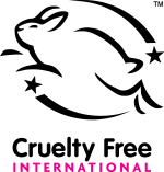 Cruelty free Leaping Bunny logo for bundle of Aloe Vera & Nettle, Lavender & Chamomile, Lemon Eucalyptus & Neem and Tea Tree & Sage Dog Hair Day shampoos
